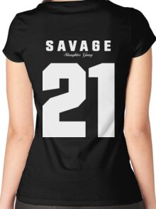 21 Savage Jersey Women's Fitted Scoop T-Shirt
