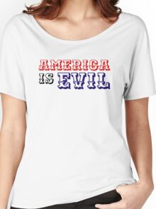 america usa political system capitalism country punk t shirts Women's Relaxed Fit T-Shirt