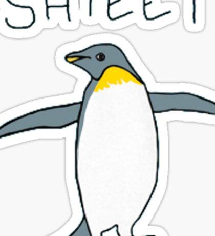 shieet a penguin Sticker