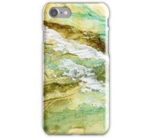 Yellow, blue and brown abstract iPhone Case/Skin