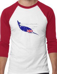 Australian Flag - Narwhal Men's Baseball ¾ T-Shirt