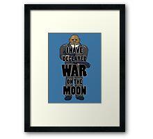 War on the Moon Framed Print