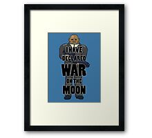 War on the Moon Framed Print