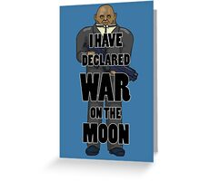 War on the Moon Greeting Card