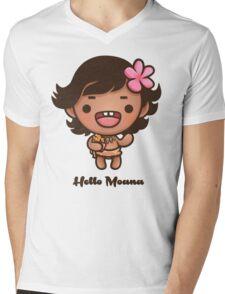 Hello Moana Mens V-Neck T-Shirt