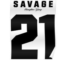 21 Savage Jersey (BLACK) Poster