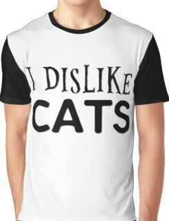 cat cats animal pets cool funny grumpy indie typography t shirts Graphic T-Shirt