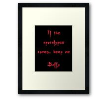 Buffy the Vampire Slayer, Buffy Summers, Angel, Willow, Spike, Sunnydale Framed Print