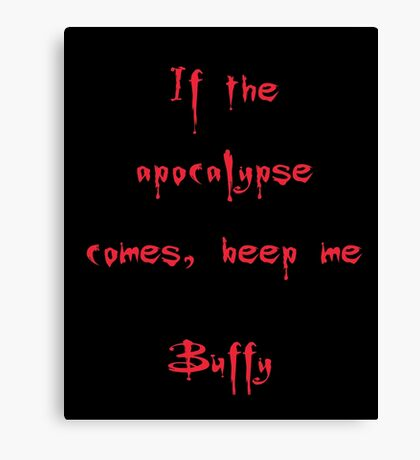 Buffy the Vampire Slayer, Buffy Summers, Angel, Willow, Spike, Sunnydale Canvas Print