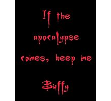 Buffy the Vampire Slayer, Buffy Summers, Angel, Willow, Spike, Sunnydale Photographic Print