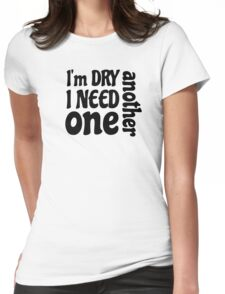 party hard drinking alcohol beer whiskey drink cool typography t shirts Womens Fitted T-Shirt