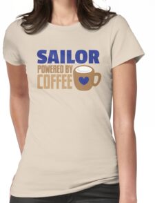 Sailor powered by coffee Womens Fitted T-Shirt