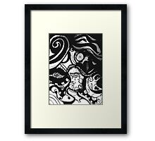 The Mustachioed Man  Framed Print