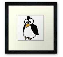 pingouin Penguin linux cartoon Framed Print