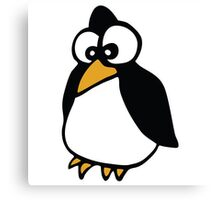 pingouin Penguin linux cartoon Canvas Print