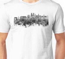 Reims skyline in black watercolor Unisex T-Shirt