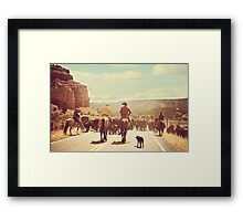 A Country Cattle Call Framed Print