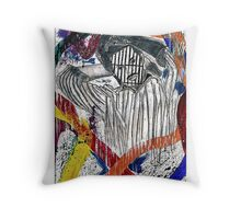 Society and Self Destruction  Throw Pillow