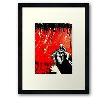 Dark Knight, Red Night Framed Print