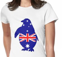Australian Flag - Penguin Womens Fitted T-Shirt