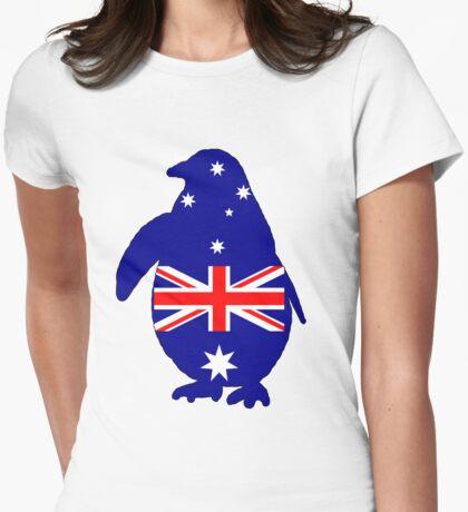 Australian Flag - Penguin Womens Fitted T-Shirt