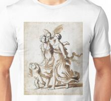 Two Girls Accompanied by Cupid - Nicolas Poussin - 1625 Unisex T-Shirt