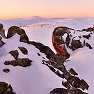 Summit from North Rams Head, Mt Kosciuszko, New South Wales, Australia by Michael Boniwell