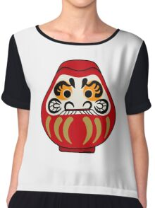 Cute Daruma doll Chiffon Top