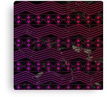 Pink Triangle Tribal Pattern  Canvas Print