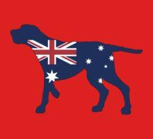 Australian Flag - Redbone Coonhound Kids Tee