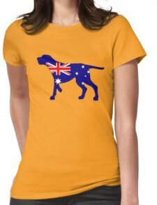 Australian Flag - Redbone Coonhound Womens Fitted T-Shirt