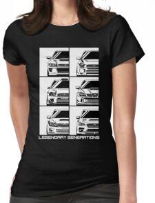 Subaru Impreza Generations Womens Fitted T-Shirt