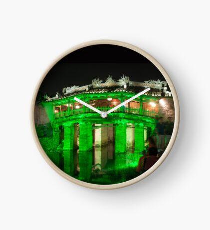 Hoi An Vietnam Japanese covered bridge (Cau Nhat Ban)  Clock