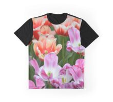Pink and Orange Daffodils Graphic T-Shirt