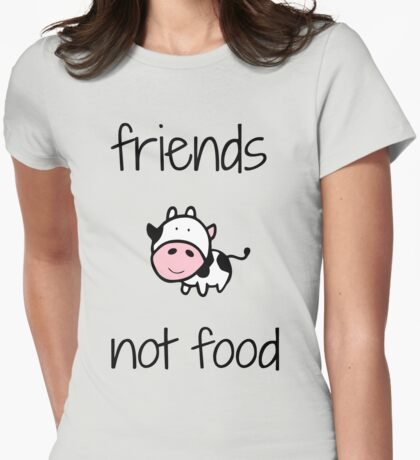 Cows Friends not food xmas shirt Womens Fitted T-Shirt