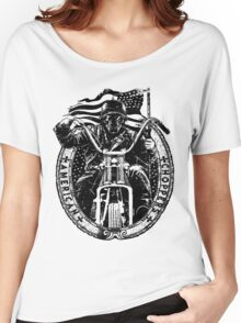 Motorcycle Chopper Stickers Women's Relaxed Fit T-Shirt