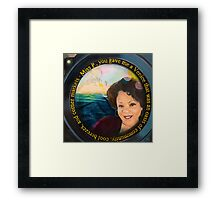 """""""Summer Breeze, Community Love"""" A painting inspired by Rhonda Lynn Wise Framed Print"""