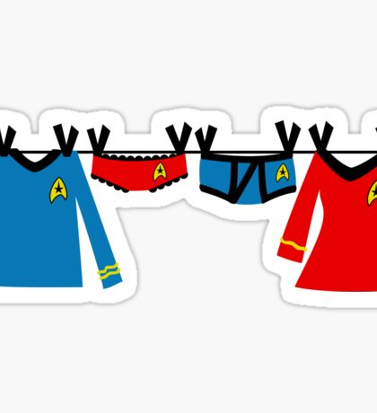 Trekkie Laundry Sticker