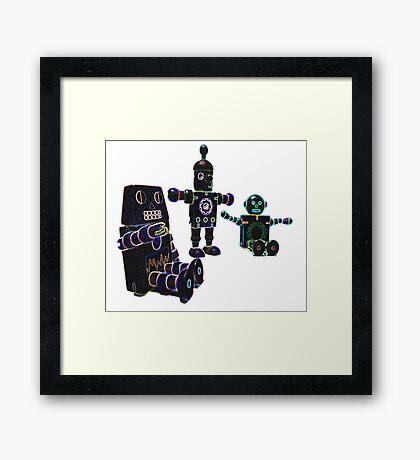 glow toy robots Framed Print