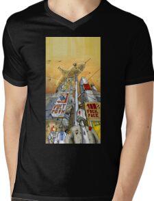 Weird City Mens V-Neck T-Shirt