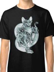 RISHAMA steampunk tattoo cat kitten biomechanics mechanics vintage Classic T-Shirt