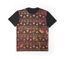 Gold Tribal Pattern  Graphic T-Shirt