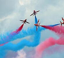 The Red Arrows Gypo Break - Dunsfold 2014 by Colin J Williams Photography
