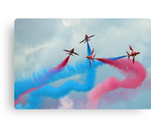 The Red Arrows Gypo Break - Dunsfold 2014 Canvas Print
