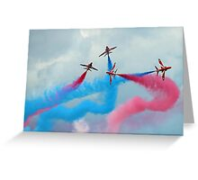 The Red Arrows Gypo Break - Dunsfold 2014 Greeting Card