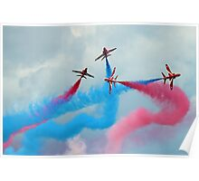 The Red Arrows Gypo Break - Dunsfold 2014 Poster