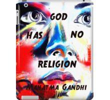 Gandhi Spiritual Quotation God Has No Religion iPad Case/Skin