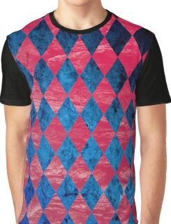 Blue Red Tribal Pattern Graphic T-Shirt