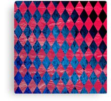 Blue Red Tribal Pattern Canvas Print