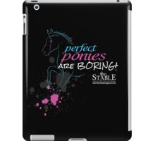 Perfect Ponies Are Boring (Blue & Pink) iPad Case/Skin